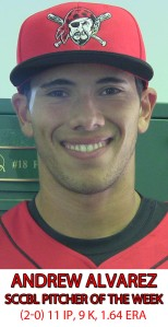 alvarez pitcher of week
