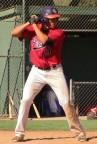 Andrew Alvarez in batting stance