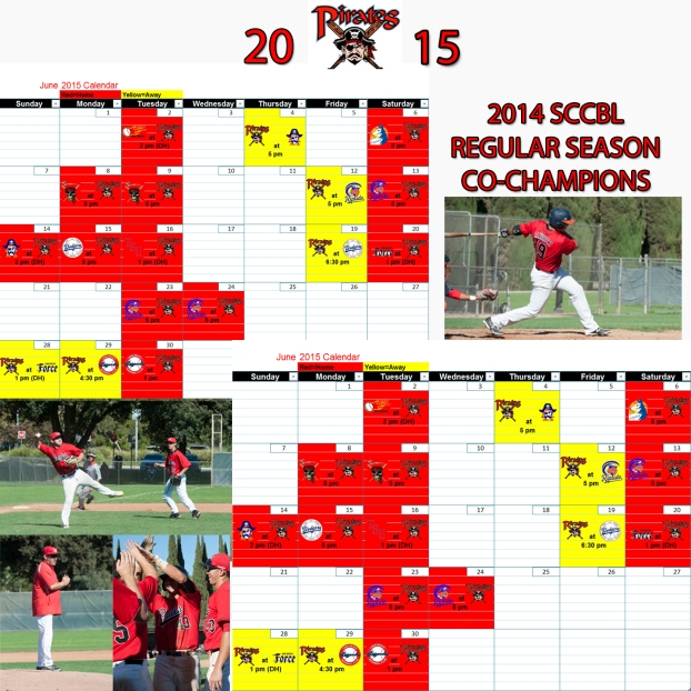 pirates calendar 2015